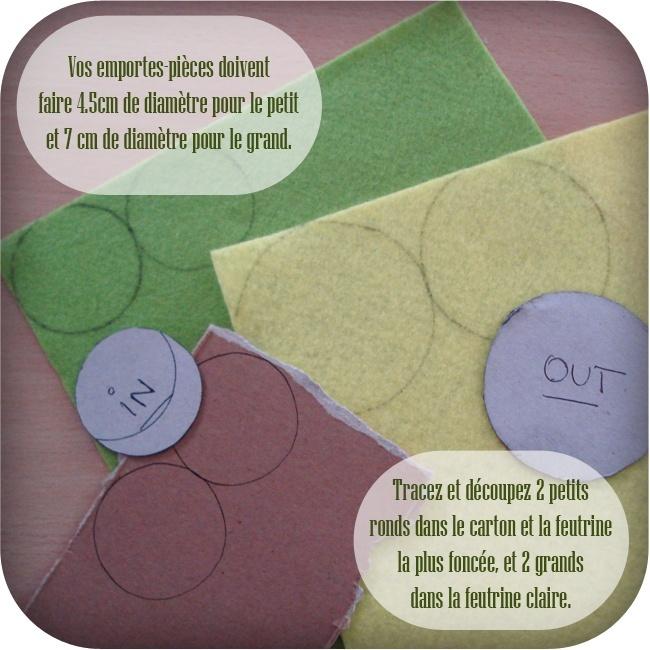 comment faire des macarons en feutrine or li dee. Black Bedroom Furniture Sets. Home Design Ideas