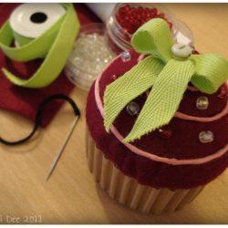 cupcake framboise feutrine