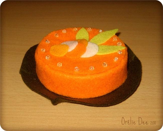 boite carott cake en feutrine