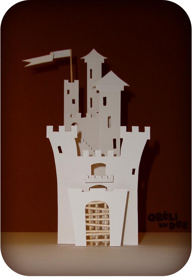 chateau 3D en papier