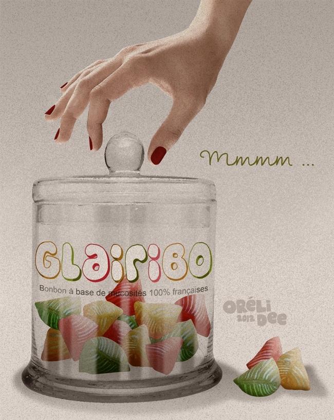 GLAIRIBO, le délicieux bonbon aux mucosités 100% françaises