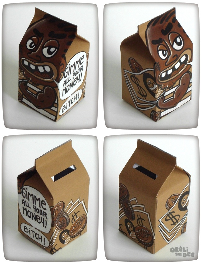 Gimme all your money - Bitch ! tirelire / paper coin box