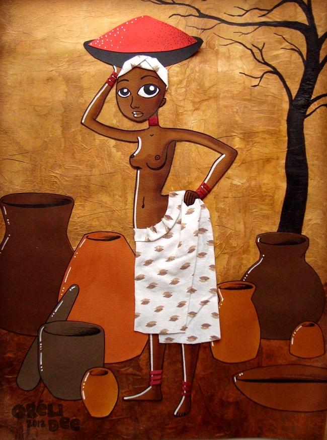 Afrique - Collage femme