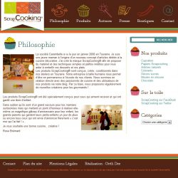 Screenshot template wordpress Philosophie