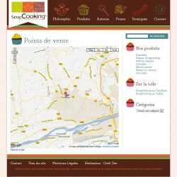 Screenshot template wordpress Points de vente