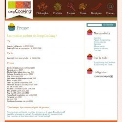 Screenshot template wordpress Presse