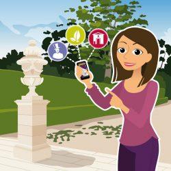Illustrations Domaine d'O - vignette personnage et applications