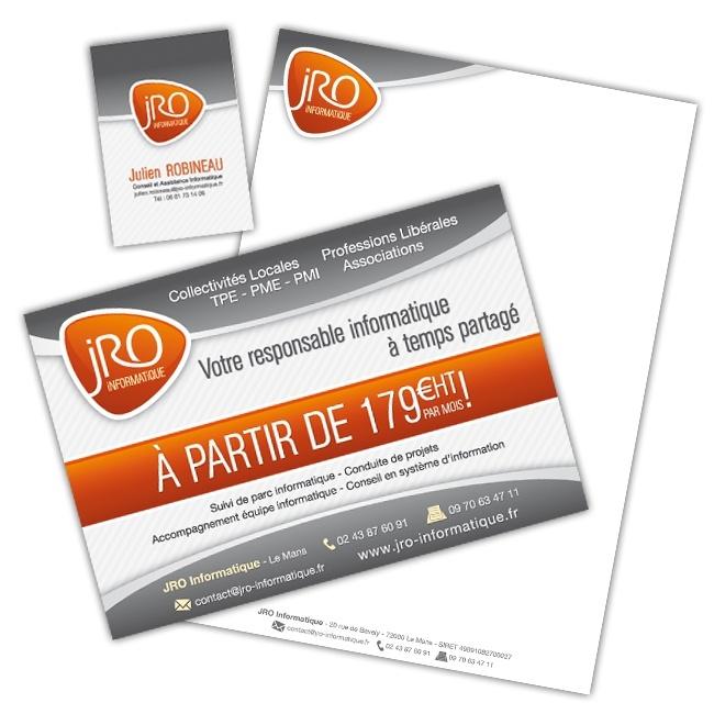 Charte graphique et communication papier JRO Informatique