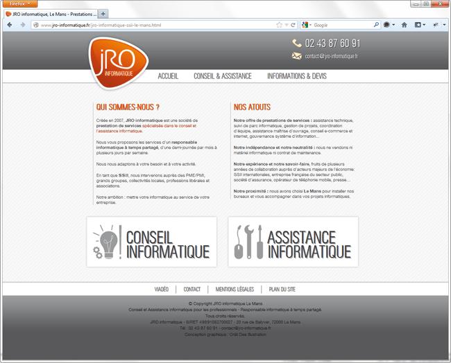 Site JRO Informatique
