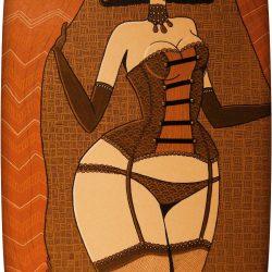 La demoiselle du lupanar - acrylique