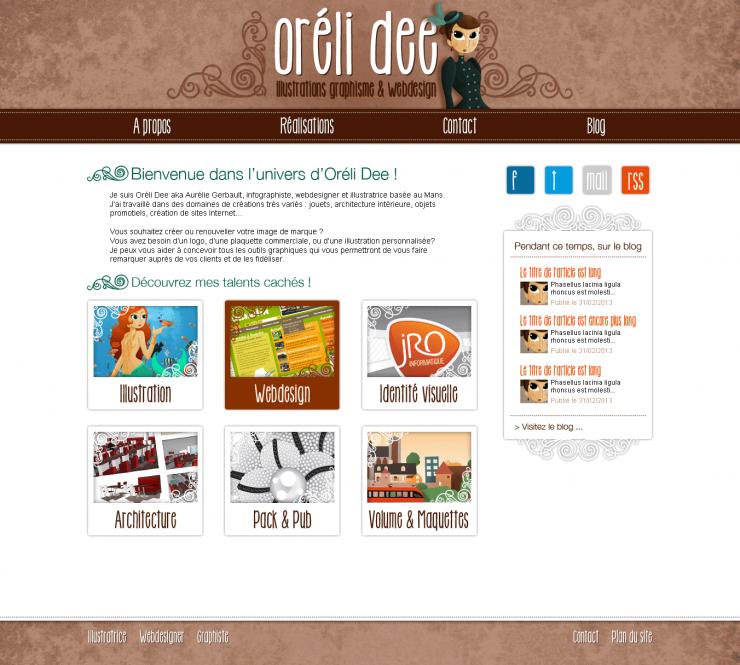 Blog OréliDee Illustration / Design et Intégration
