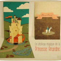 Carte pop up chateau de princesse