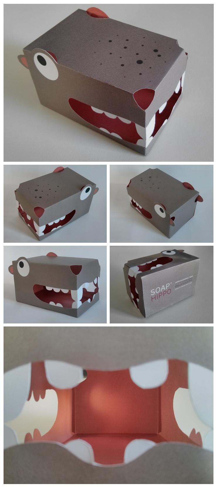 hippopotame boîte à savon