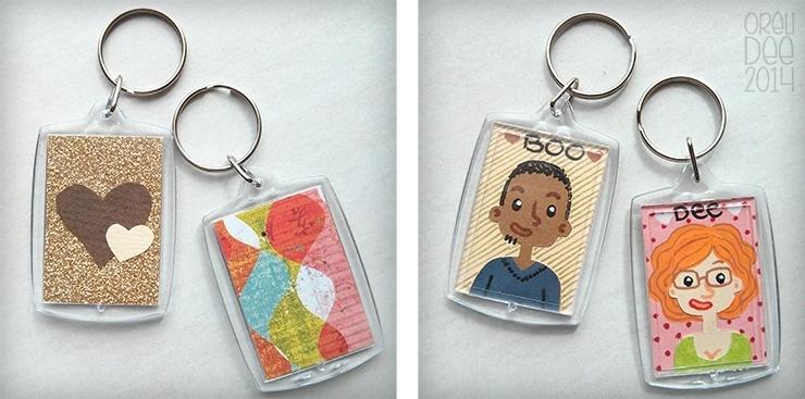 Porte-clés Boo et Dee