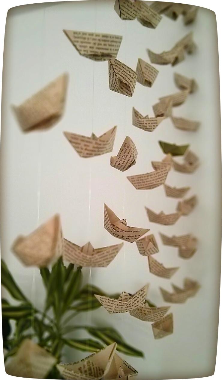 petits bateaux en papier