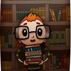 Le petit roux de bibliothèque
