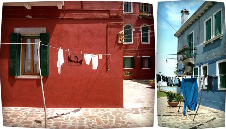 burano - ligne qui sèche assorti aux maisons