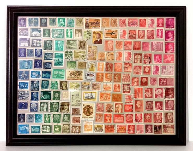 tableau timbres arc en ciel