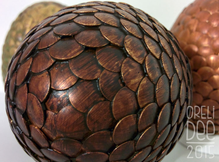 DIY oeuf de dragon / dragon eggs / detail