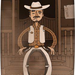 Saloon - Portrait cowboy