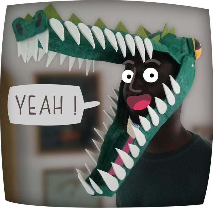 CROC'MONSIEUR - Masque de crocodile - déguisement