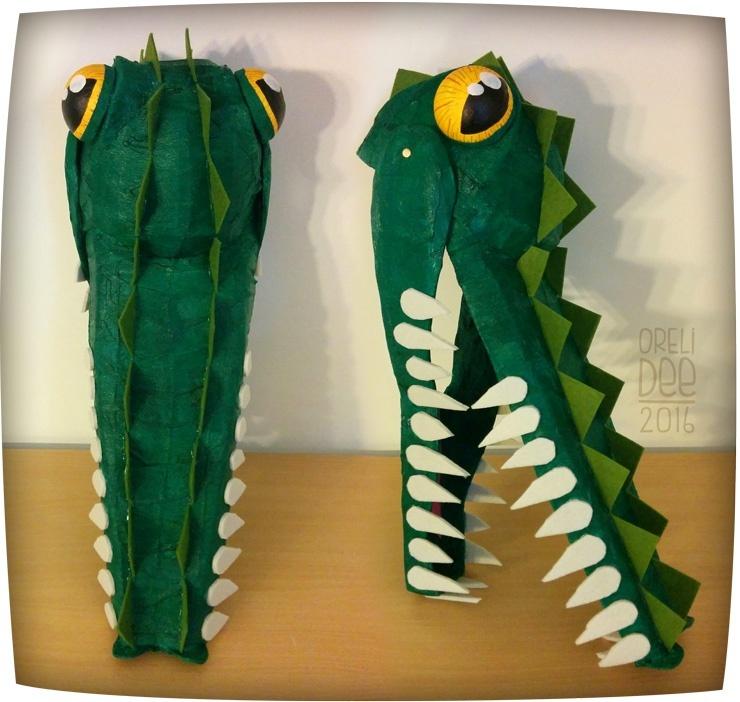 Déguisement masque de crocodile