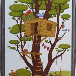 Cabane dans les arbres - illustration au feutre