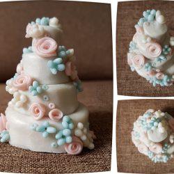 mini cake - pièce montée miniature - pâte Cernit