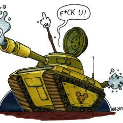 Tank-affair - feutres et posca