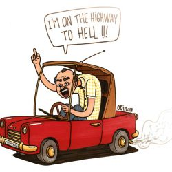 Highway to hell - feutres et posca