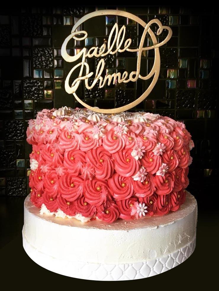 gaelle ahmed cake topper personnailsé