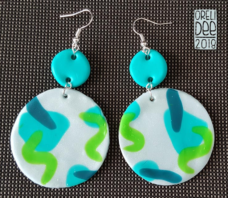 Boucles d'oreilles - Colors bleu