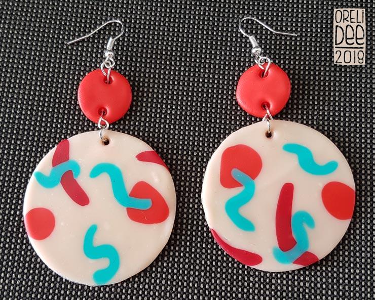 Boucles d'oreilles - Colors rose