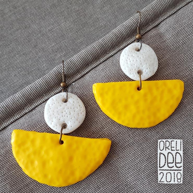 Boucles d'oreilles - Inca jaune