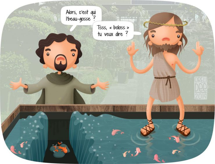 """Moïse et Jésus se la pètent dans une jardinerie, à coup de """"je marche sur l'eau, t'as vu"""" et de """"moi j'écarte la mer en deux, frère !"""""""