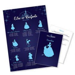 Plan de table et menu de mariage