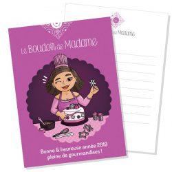 Carte de vœux du Boudoir de Madame