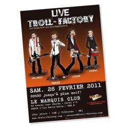 Affiche des concerts du groupe de rock Troll Factory